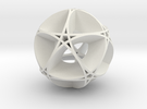 Pentragram Dodecahedron 1 (wide) in White Strong & Flexible