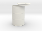 1/18 55 gallon drum in White Strong & Flexible
