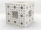 Menger Sponge 3 iterations in White Strong & Flexible