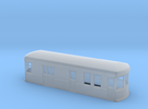 N gauge short trolley RPO in Frosted Ultra Detail