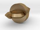Core Drill from Tengen Toppen Gurren Lagann in Polished Gold Steel