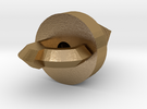 Hollow version of the Core Drill in Polished Gold Steel