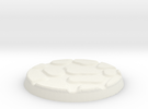 25mm Figure Base Large Cobble in White Strong & Flexible