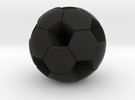 Soccer Ball (White Hexagon Body) in Black Strong & Flexible