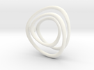 Single Wire Track with Ball in White Strong & Flexible Polished
