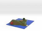 an island setup  in Full Color Sandstone