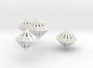 Regular Dipyramidal Dice Set in White Strong & Flexible