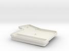 ErgoDox Bottom Left Case (single slope) in White Strong & Flexible
