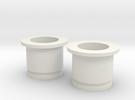 Circular Plug Hollow - 000 Gauge in White Strong & Flexible