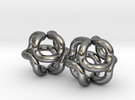 2x24tube 90d smal ball in Polished Silver