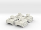 15mm Gobbo Tankettes (x4) in White Strong & Flexible