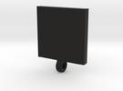 QR code pendant in Black Strong & Flexible