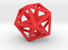 Icosahedron Convex Hull in Red Strong & Flexible Polished