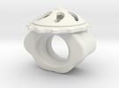 Fan Ring Size 3 in White Strong & Flexible