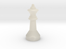 Chess Queen Figure in White Acrylic