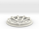 Belt disk right side 180Z HTD 3M 12mm 36 spokes in White Strong & Flexible