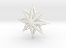 star3 ornament by Jorge Avila in White Strong & Flexible Polished