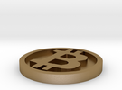 Bitcoin in Polished Gold Steel