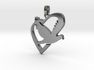 Love & Peace Pendant in Premium Silver
