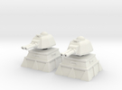 28mm Lascannon Turret and Bunker (x2) in White Strong & Flexible