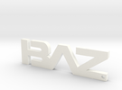 BAZ Keychain Small in White Strong & Flexible Polished