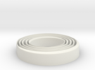 Beautiful Circular Cup Holder in White Strong & Flexible