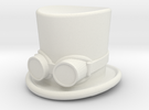 top hat and goggles 5cm solid in White Strong & Flexible