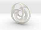 Tri Arm Torus medium in White Strong & Flexible