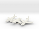 1:144 FIAT G.91 Triple pack in White Strong & Flexible