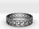 Rohkea Bold Celtic Knot Size 11 in Premium Silver