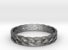 Hieno Delicate Celtic Knot Size 7 in Premium Silver