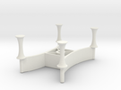 X Bracket Universal Charger Mount in White Strong & Flexible