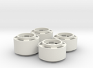 Mini-z F1 Wheelset with -2.5mm standard offset in White Strong & Flexible
