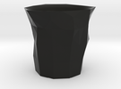 Polygon Little Cup in Black Strong & Flexible