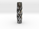 Razor Handle (Twisted Diamonds) in Polished Silver