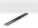 Shapeways Twistedsticks 140mm Long in Black Strong & Flexible