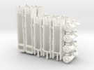 WIA Articulated Car Carrier Shell (N Scale) in White Strong & Flexible Polished