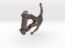 H0 grinding Skater in Stainless Steel