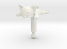 Flat Cat, Jack Protector Audio in White Strong & Flexible