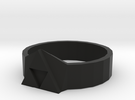 Tri-Force Ring (size 10 Ring) in Black Strong & Flexible