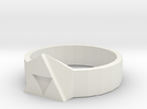 Tri-Force Ring (size 10 Ring) in White Strong & Flexible