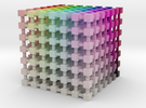 HSL Color Cube: 3.5 inch in Full Color Sandstone