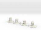 Attika Temples Full Set in White Strong & Flexible