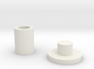 DC17 Nozzle BackDisc in White Strong & Flexible