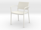 Stylex Brooks Arm Chair 1:24 Scale in White Strong & Flexible