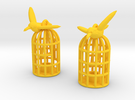Flown The Coop (smaller version) in Yellow Strong & Flexible Polished