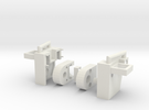 Heavy Tread Combiner Knee Joint W PCC Port in White Strong & Flexible