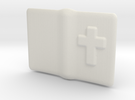 "Small open Bible for 6"" to 12"" figures in White Strong & Flexible"