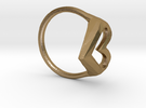 FLYHIGH: Skinny Heart Ring 13mm in Polished Gold Steel