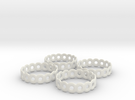 Daisy Chain Napkin Rings (4) in White Strong & Flexible